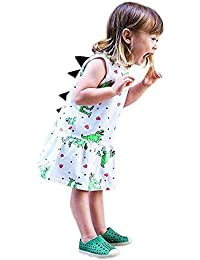 LEvifun Vestito Bambina Modelli Cartone Animato a Strisce per Bambini in  Cartone con Stampa 3D Stereo e2f1d0363ba