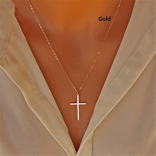 Jovono Fashion Halskette Kreuz Anhänger Schmuck Kette für Damen und Mädchen