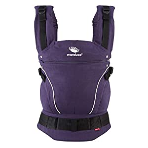 manduca First Baby Carrier > Pure Cotton < Adjustable & Versatile Baby Carrier from Newborn to Toddler (3.5 up to 20 kg), 3-Position (Front, Hip & Back), Made in Europe (PureCotton, Purple)   8