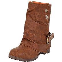 Zapatos Mujer OtoñO Invierno ZARLLE Botas De Cuero Cortas De Moda Botas De Cuero De Mujeres