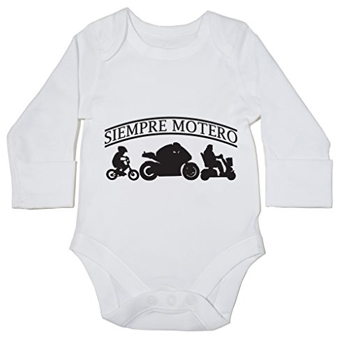 HippoWarehouse SIEMPRE MOTERO body manga larga bodys pijama niños niñas unisex