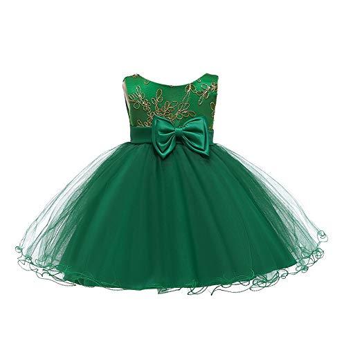 BOZEVON Baby Kleidung Mädchen Tütü Rock - Babybekleidung Ärmellos Kleid Rot Bowknot Neugeborenes Geschenk, Grün, (Grün Tutu Kleid)