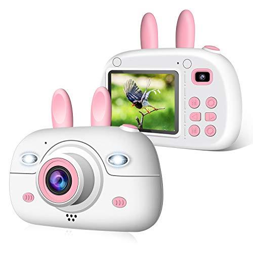 2NLF Kinder Kamera, Kinderkamera Digital Fotokamera Selfie, 2,4 Zoll Digitalkamera 8 Mpixel, vorderes und hinteres Objektiv, Blitzlicht, 16G SD-Karte