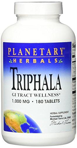 Triphala, GI-Trakt Wellness, 1000 mg, 180 Tabletten - Planetary Herbals