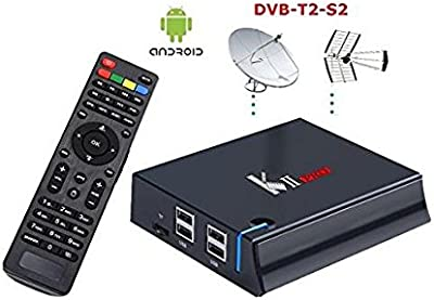 Mini PC kII Pro, Memoria de 2 / 16GB Android 5.1S905 con receptor satélite S2y Digital Terrestre HD, grabación de vídeo 4K