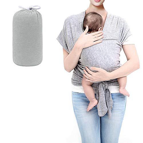 HyAiderTech Fascia Porta Bambino Facile da Indossare Neonato Regali Fascia Per Neonati Cotone Asettico Di Alta Qualità per Neonati e Bambini Fino 16