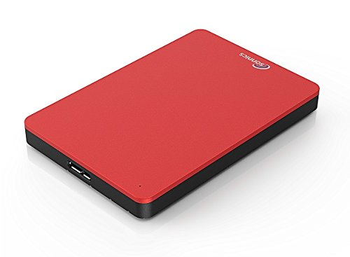 Sonnics 640GB Rosso hard disk esterno portatile USB 3.0 Super velocità di trasferimento per uso con Windows PC, Apple Mac, Xbox One e PS4