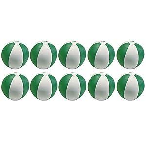 eBuyGB - Pack de 10 Bolas de Colores inflables para Juegos de Piscina de Playa, Color Verde, 22 cm