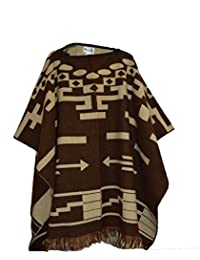 ccc0f376e60 Wigwam Cool hand made Mexican style poncho Brown