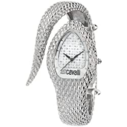 Just Cavalli Poison Women's Quartz Watch with Silver Dial Analogue Display and Silver Stainless Steel Strap R7253153515