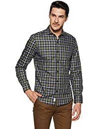Indigo Nation Men's Checkered Slim Fit Formal Shirt