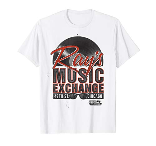 The Blues Brothers Ray's Music Exchange Vinyl Record Logo T-Shirt - Vinyl-grafik-band