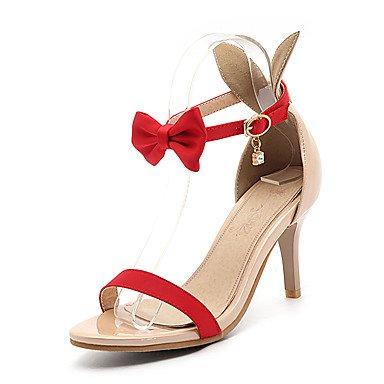 LvYuan Da donna-Sandali-Matrimonio Formale Serata e festa-Altro Club Shoes-A stiletto-Finta pelle-Nero Verde Rosso Bianco Green