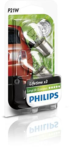 Philips 12498LLECOB2 LongLife EcoVision P21W Signallampe 12498LLECOB2, 2er