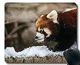 Yanteng Gaming Mouse Pad mit genähtem Rand, Einstellungen Zoo Little Panda Chicago, Mauspad, Rutschfeste Gummibasis Mousepad für Laptop, Computer