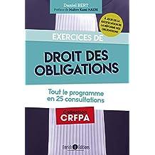 Exercices de droit des obligations (CRFPA) (French Edition)