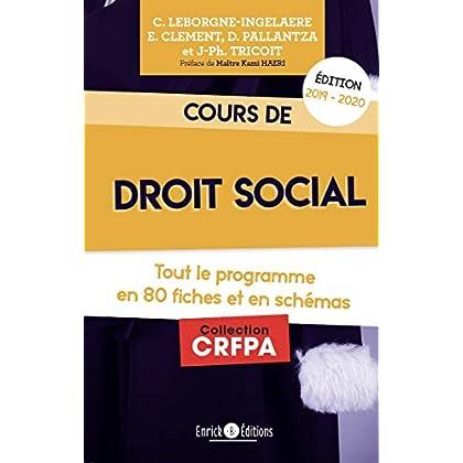 Cours de droit social : Tout le programme en 80 fiches et en schémas
