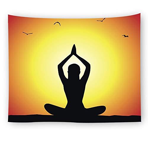 Melory Buddhismus Yoga Tapisserie Psychedelic Wandtuch Hippie Indisch Wandteppiche Teppich Tischtücher Deko Tücher Dekor für Schlafzimmer, Strandtuch,Bed Sheet,Picknickdecke Muster5 150 * 130cm