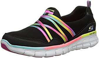 Skechers Synergy Scene Stealer Women's Low-Top Sneakers - Black (Black/Multi), 6 UK (39 EU) (9 US)