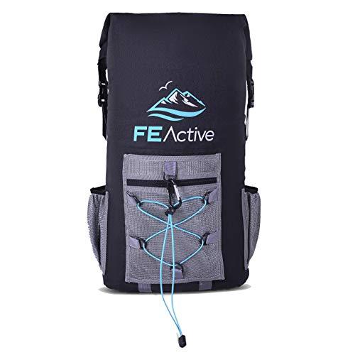 Fe active - zaino termico impermeabile 35 litri senza bpa, approvato fda, borsa frigo isolamento eva per picnic, campeggio, spiaggia, escursionismo, attività all'aperto | disegnato in california, usa