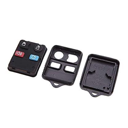 2-Stck-Autoschlssel-Hlle-Gehuse-Ersatz-Kunststoff-Auto-Schlssel-Funk-Fernbedienung-Shell-Schlssel-Hlle-Cover-mit-4-Tasten-fr-Auto-PKW-KFZ