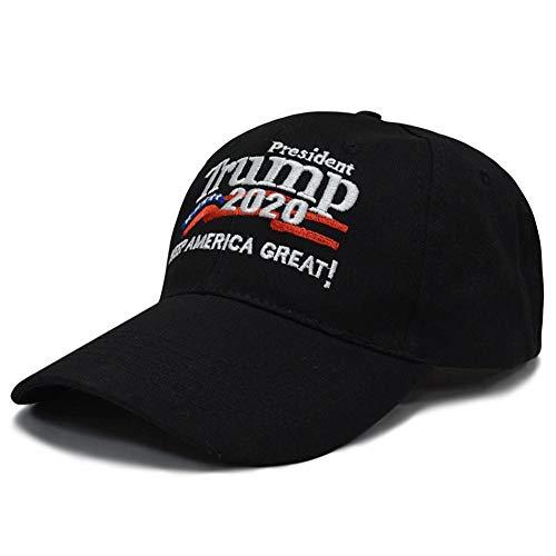 Opfury 2020 mit Armband Baseballmütze Donald Trump Mütze Keep America Great Cap Verstellbarer Hut Passend für Bucket Trucker Cap