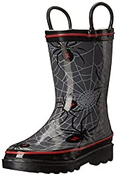 Western Chief Kids Spider Web Rain Boot (Toddler/Little Kid/Toddler), Charcoal, 8 M US Toddler