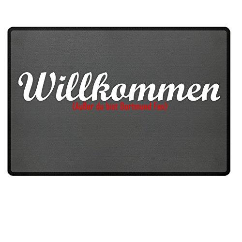 Gebraucht, Fußmatte Anti Dortmund in grau - Lustige Fußball Schmutzfangmatte gebraucht kaufen  Wird an jeden Ort in Deutschland