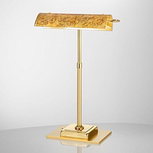 Kolarz Moderne Klavierleuchte Gold Motiv 2-flammig 210lm Lumen 3000K Schreibtischleuchte Pianolampe...