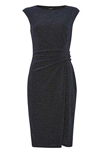 Roman Originals - Robe Femme Drapé Paillettes Jersey - Noir Noir
