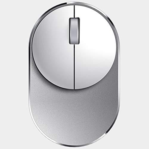 DUOER home Maus Bluetooth-Multimodus-Maus Zum Stummschalten Der Maus Computer (Color : White, Größe : XL-106 * 64 * 24mm)