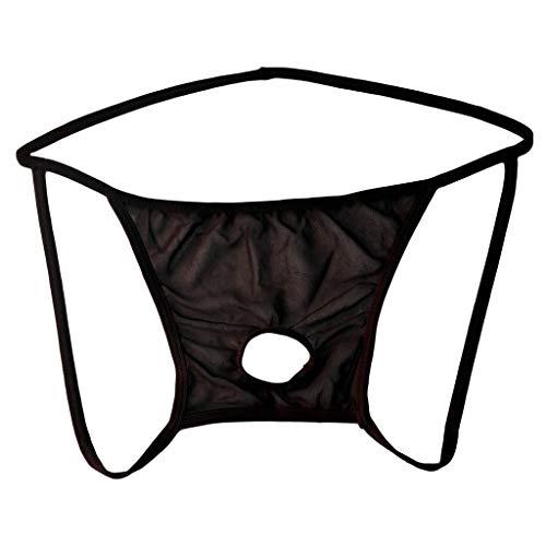LILIHOT Men's Lingerie Thong Underwear Sexy Soft String Bikini Underpants Herren Open Front Mesh G String Pouch Unterwäsche Höschen T-Back Thong Bikini Summer Code Unterhosen (Mutterschaft Höschen Shaper)