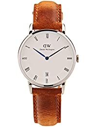 Daniel Wellington Damen Analog Quarz Uhr mit Leder Armband DW00100114