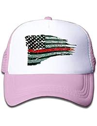 uykjuykj Baseball Caps Hats Kid s Cap Firefighter Red Line Flag Mesh Hat  Dad Caps Baseball Cap bb052a42b89d