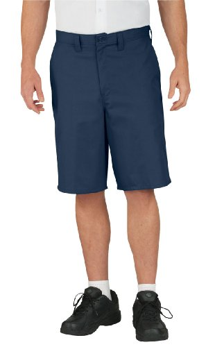 Dickies Occupational Workwear LR642NV 36 Polyester/ Cotton Relaxed Fit Men's Premium Industrial Multi-Use Pocket Short with Hidden Snap Closure, 36