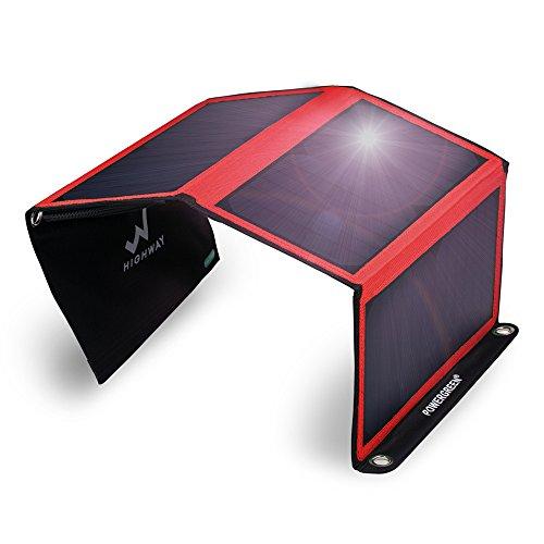Caricabatteria solare, powergreen® 21 W Pannello Solare Pieghevole Portatile Con