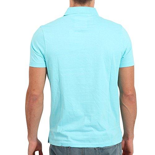 FRESH BRAND Herren Kurzarm Polo Shirt in Helltürkis Türkis