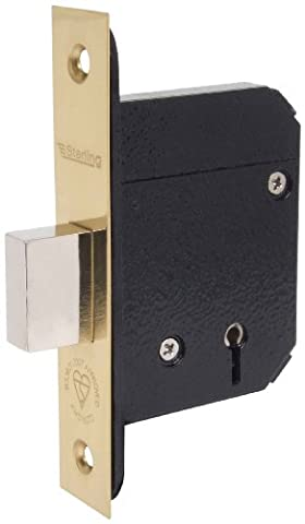 Sterling MLD530BS 3-inch/80mm 5-Lever Mortice Deadlock - Brass