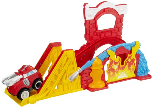 Playskool - Camion de pompier et circuit - Chuck and Friends