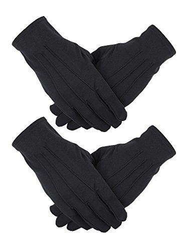 2 Paar Nylon Baumwolle Handschuhe für Polizei Formal Tuxedo Ehrenwache Parade Kostüm (Kostüm Medizinische)
