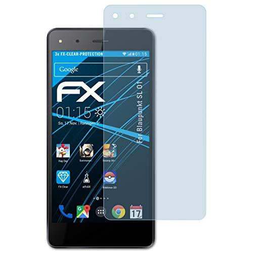 atFolix Schutzfolie kompatibel mit Blaupunkt SL 01 Folie, ultraklare FX Bildschirmschutzfolie (3X)