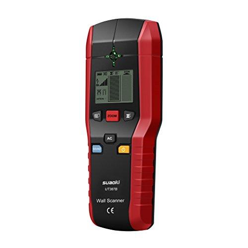 Suaoki - Detector de Pared, Detector de Tuberías y Madera, Detector de Multifunción, Detector de Metales, Buscador de AC Cable
