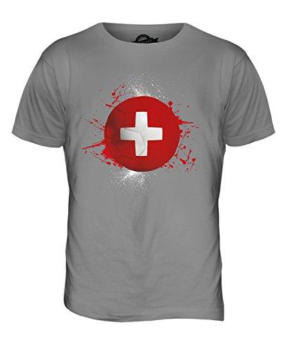 CandyMix Schweiz Fußball Herren T Shirt Hellgrau