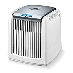 Beurer LW 220 air washer and humidifier in one unit (very energy-efficient air purifier with maximum 7 watt, air washer suitable for rooms up to 40 m², easy to clean) white