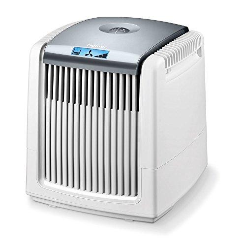 Beurer LW 220- Purificador y humidificador de aire , 7 vatios, adecuado para habitaciones de hasta 40 m², 18 W, Blanco