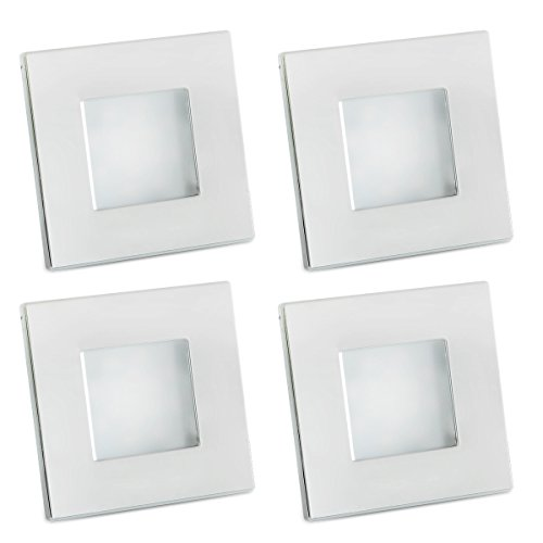 Preisvergleich Produktbild 4X Dream Lighting 12v Effiziente LED Platz Deckeneinbauleuchte, Helles, Leichtgewicht Kalt Weiß
