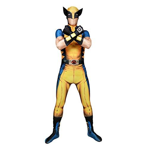 Halloween Party X men Wolverine Morphsuit Ganzkörperanzug, (Wolverine Kostüme X Men)