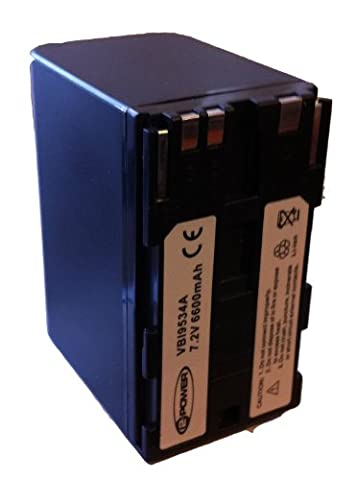 VBI9534A 2?Power-Batterie camescope 7,2V (Batteria Operated 3d Glasses)