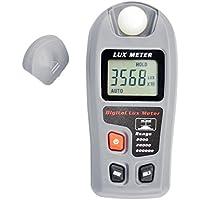 Domybest Medidor de Iluminación Digital, Medidor de Luz con Pantalla LCD Rango de Medición 0.1~200000Lux, Fácil de Usar