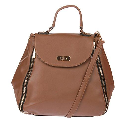 Rucksack Xuna 25953 Henkeltasche Tasche Handtasche Shopper (Khaki) Khaki